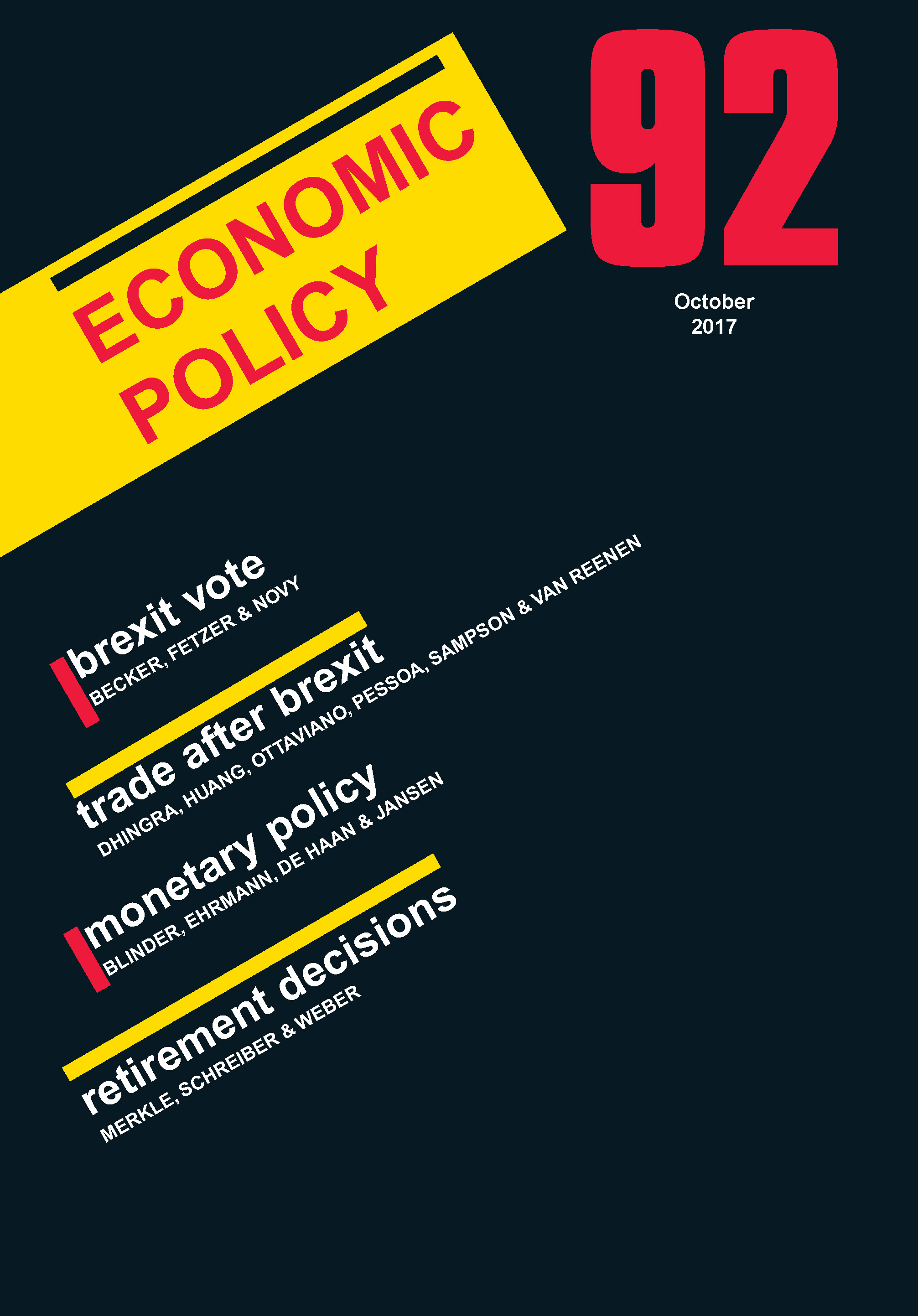 centre economic policy research discussion papers Caepr discussion papers are intended as one forum for the rapid dissemination of peer-reviewed papers by centre staff on relevant research  economic policy research.